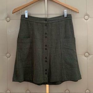 Universal Thread Linen Blend Skirt